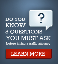5 questions you must ask before hiring a traffic attorney graphic